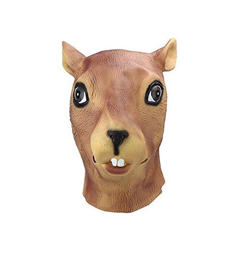 Gwanna Material Umweltschutz Latex Rubber Eichhörnchen Kopfschmuck Maske gruselige Maske für Party Halloween Dekorationen