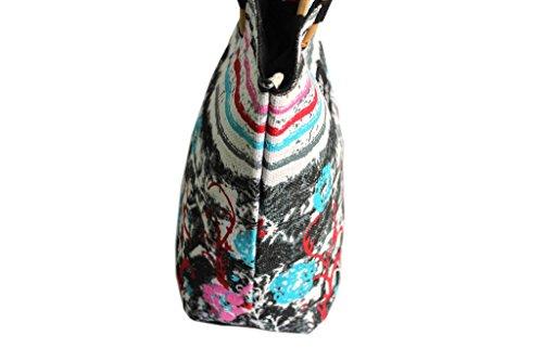 Borsa mare Gian Marco Venturi donna moda mare l.strisce 44380 nero