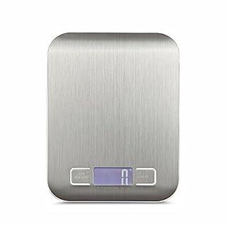 AMTOP Digital Küche Maßstab Multifunktions Küchenwaage, 5kg 5kg, SLIM DESIGN MINI Mensur, wasserdicht Küchenwaage, Edelstahl silber