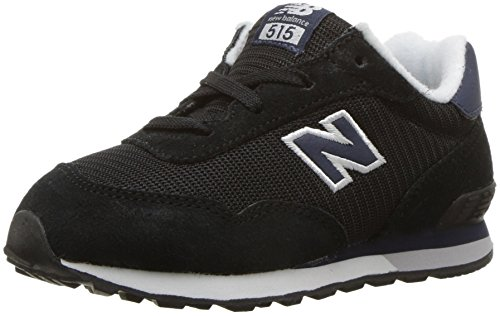 Sneakers Toddler New Balance Boy (New Balance Boys' 515v1 Classic Hook and Loop Sneaker, Black/Blue, 5.5 M US Toddler)