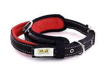 moonpet réglable rembourré en maille filetée Collier pour chien en nylon avec poignée-Heavy Duty/Roman Conception/vers l'extérieur élégant-Parfait pour travail/course à pied/contrôle/formation