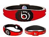 Bracelet Ionique Balance POWER - Equilibre Puissance - Small - 17.5cm / 6.9in, 100 pourcent coton jersey, Rouge