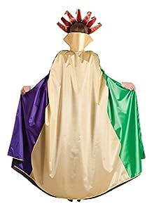 Carnival Toys - Capa veneciana de satén y tafetán, 140 cm, multicolor (29031)