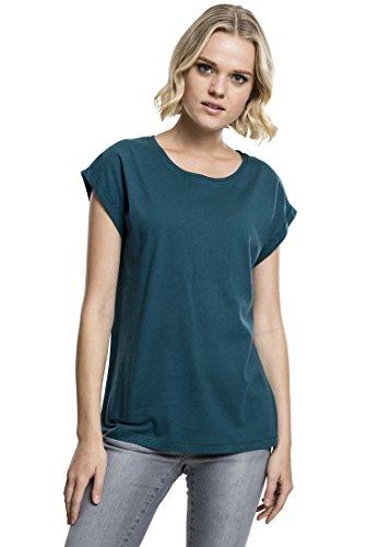 Urban Classics Damen T-Shirt Ladies Extended Shoulder Tee, Farbe teal, Größe L