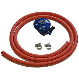 41eSdHFlA6L. SS300  - Gas Hose, Clips & Gas Regulator Butane 28 Mbar (Clip on)