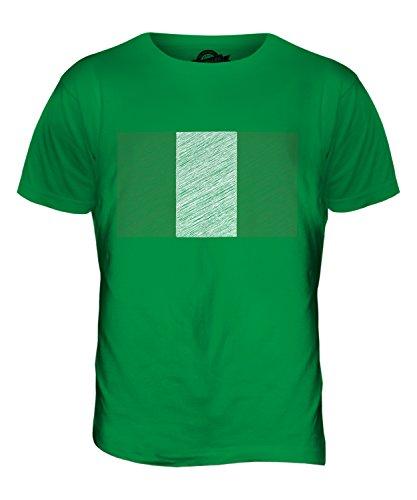 CandyMix Nigeria Kritzelte Flagge Herren T Shirt Grün