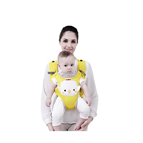 SONARIN 3 in 1 Multifunction Cartoon Hipseat Baby Carrier, Ergonomic,100% Cotton, One Size Fits All,Adapted to Your Child's Growing,Easy to Carry and Easy Mom,Ideal Gift(Yellow) SONARIN Applicable age and Weight:0-36 months of baby, the maximum load: 20KG, and adjustable the waist size can be up to 46.5 inches (about 118cm). Material:designers carefully selected soft and delicate 100% cotton fabric. Resistant to wash, do not fade, to the baby comfortable and safe experience. Cartoon version design, let the baby more like and adapt. Description:patented design of the auxiliary spine micro-C structure and leg opening design, natural M-type sitting. Side with small pockets so that you can put some daily necessities when you go outside. The baby carrier and the hipseat junction have a protective pad,intimate design, so that your baby more comfortable. 3