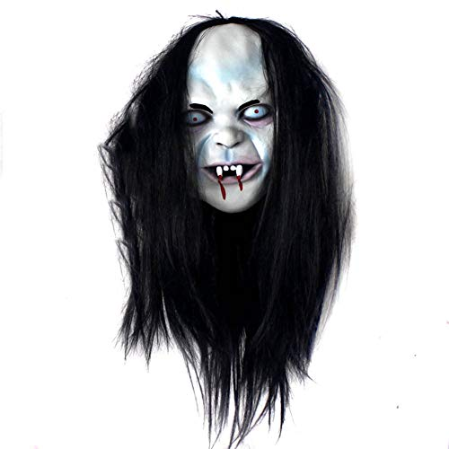 LJSHU Halloween-Kostüm Horror-Maske Fluch Scorpion Brunette Zombie Maske -