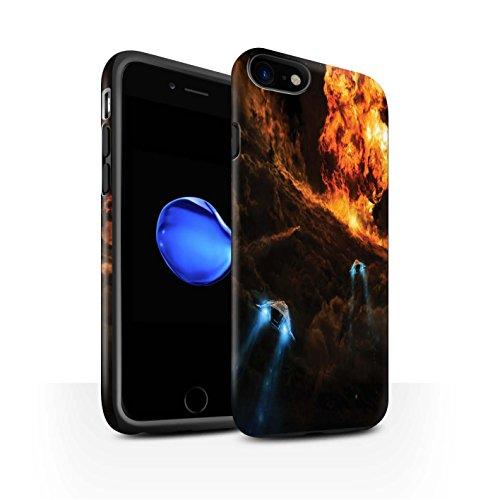Offiziell Chris Cold Hülle / Matte Harten Stoßfest Case für Apple iPhone 7 / Schmelzen Sonne Muster / Fremden Welt Kosmos Kollektion Chaos Entfesselt