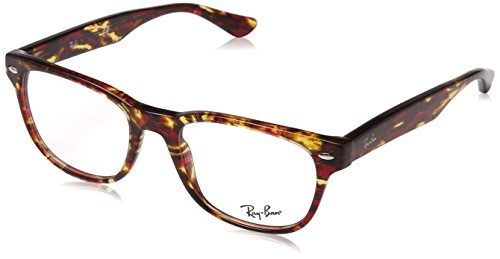 Rayban Herren Brillengestell RX5359, Rot (Spotted Red/Brown/Yellow), 51