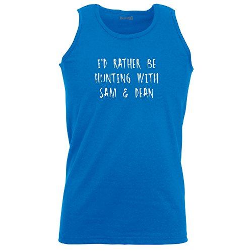 Brand88 - I'd Rather Be Hunting With Sam & Dean, Unisex Athletic Weste Koenigsblau