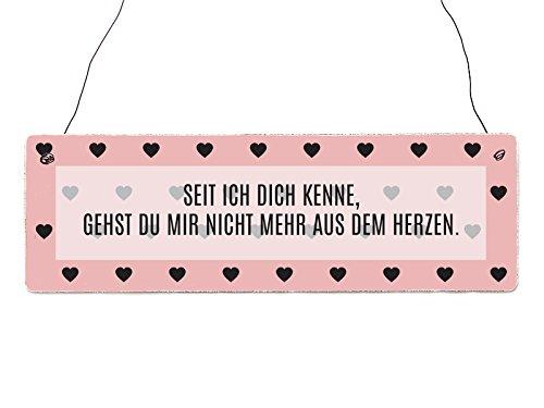 Holzschild Dekoschild SEIT ICH DICH KENNE Valentinstag Liebe Partner Geschenk