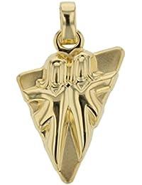 Goldanhänger Zwilling 585 Gold 14Karat Kettenanhänger Sternzeichen Schmuck 3213