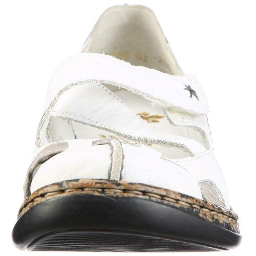 Basse Combinato bianco Donne Delle Scarpe Bianche Margherita Rieker EwqZ44