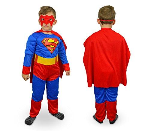 537660 Costume carnevale Super eroe d'acciaio da Bambino da 6 a 8 anni. MEDIA WAVE store ®