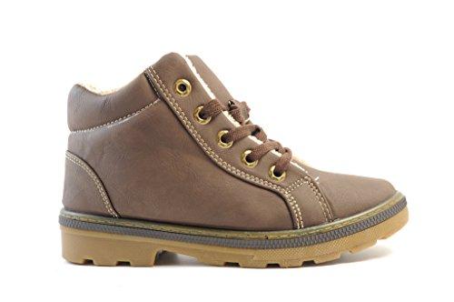 Chaussure pour femme, taille 37 35 36 38 39 40 knöchelhoch fermeture marron/noir Marron