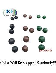Jshanmei® 100/Paquet 4mm~7 mm Perles Rondes en caoutchouc souple - Pêche à la carpe Accessoire pour bas de ligne Pêche