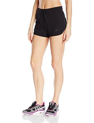 ASICS Damen Knit Shorts, Damen, Performance Black, Medium -