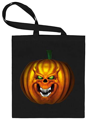 Golebros Halloween Killer Kürbis Pumkin Face 5966 Süßigkeiten Bonbons Tasche Stoffbeutel Tragebeutel Beutel Kinder Schwarz