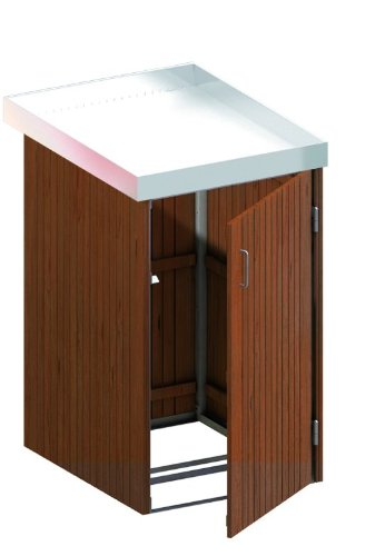 Produktbild BINTO Mülltonnenbox Hartholz, Müllbox System 15