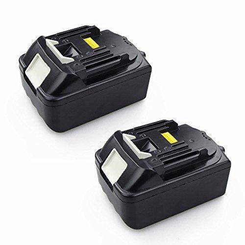 Preisvergleich Produktbild PowerWings 2 Stück 5,0 Ah 18V Ersatz Li-Ion Akku für Makita BL1830 BL1840 BL1850 194205-3 194205-5 194309-1 BL1815 LXT400