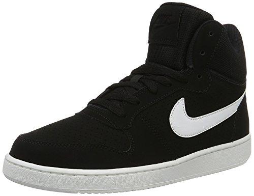 Nike Herren Court Borough Mid Basketballschuhe, Schwarz (Black/White), 44 EU