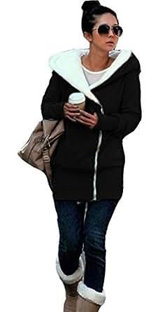 New Double Zip Designer Women's Ladies Black Hoodies Sweatshirt Top Sweater Hoodie Jacket Coat Small