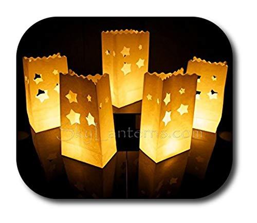 10 x sac de bougie lumière de thé en papier ignifuge décoration - motif Etoile