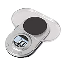 Salter Micro Digital Kitchen Scale - Electronic Micro Measuring Tool, Precision Baking/Cooking, Compact, Portable Design, Large Backlit LCD, 500 g Capacity/0.05 g Resolution, Metric/Imperial - Silver