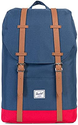 Herschel Supply Men's Retreat Mid Classics Navy-Red Backpack In Size One Size Blue