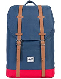 Herschel Supply Men's Retreat Mid Classics Navy-Red Backpack In Size Taille Unique Blue
