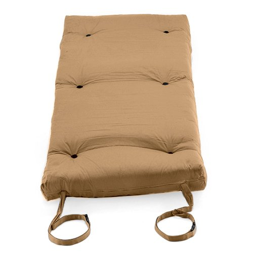 home     pebble beige cotton twill  u0027brooklyn u0027 roll up camping futon      rh   simplybestfutons co uk