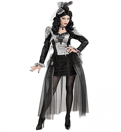 Deluxe Damen Kostüm Dunkle Gräfin mit Krinoline Reifrock Halloween Vampirin Barock, Größe:L (Kostüme Krinoline)