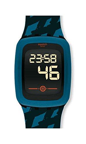 Swatch Orologio Digitale Quarzo Uomo con Cinturino in Silicone SVQB100