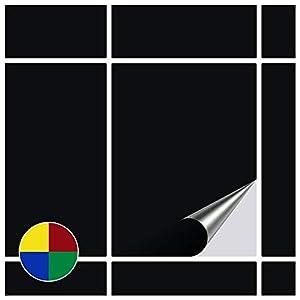 FoLIESEN Fliesenaufkleber Küche u. Bad-15x20 cm glänzend-225, PVC, Schwarz glänzend 225 Stück 225-Einheiten