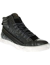 Diesel Bottes Homme Sneaker D String Plus Fermeture eclair Fermeture eclair Castlerock / black