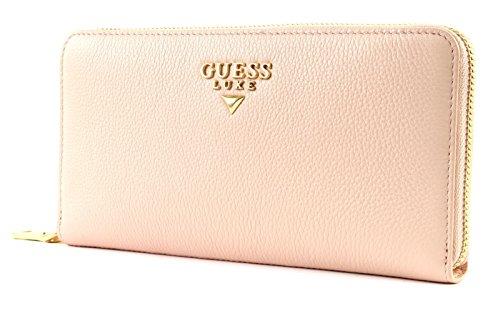 GUESS Deluxe Large Zip Around Rose - Deluxe Damen Geldbörse