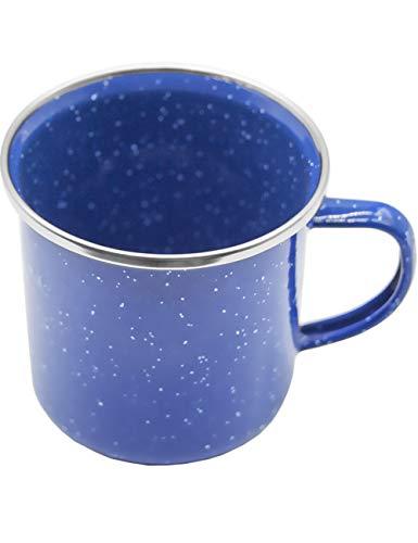 Outdoor Saxx® - Emaille-Tasse, Outdoor Becher, Camping-Tasse, Kaffee-Tasse 300 ml, klassisches, formschönes Design | blau mit weißen Punkten Camping-becher