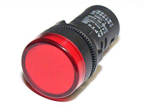 Rotek LED Schaltschrankleuchte - Leuchtfarbe: Rot, für 230V AC/DC Nennspannung Led-meldeleuchte