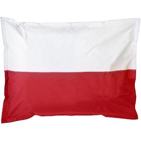 Lumaland Poltrona sacco gigante XXL Bandiera Polonia riempimento da 380 lt 140x180 cm per interni ed esterni - Sfera Giardino Bandiera