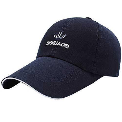 otton Summer Langer Hut und Angelkappe Hochwertige bestickte Unisex-Baseballkappen einstellbar ()