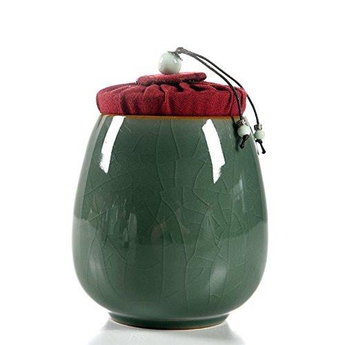 Vaso di porcellana,Canister de thé,Coffres de stockage de thé,Service à thé Thé de kung-fu Boîtes de thé scellé-A 4x6inch