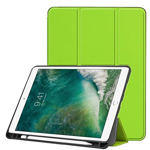 Renzhe Schutzhülle für iPad Air 26,7 cm (10,5 Zoll) 2019 (automatische Schlaf-/Wach-Funktion), schlanke Eckenschutz, leicht, mehrere Winkel, grün (Air Logitech Ipad Tastatur-pink 2)