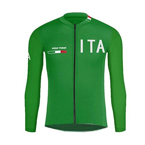 Uglyfrog abbigliamento ciclismo invernale uomo magliette manica lunga triathlon camicia/cappotto