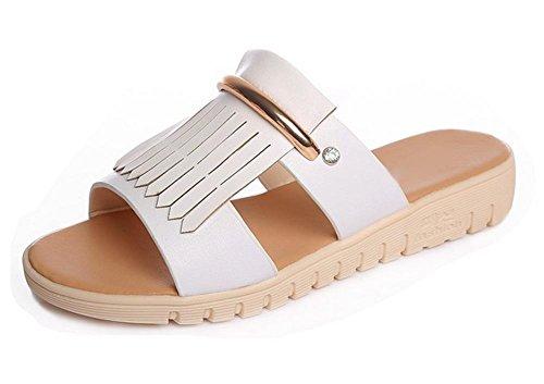 Sommer-Freizeitschuhe schlüpfen Sandalen Outdoor-Sandalen und Pantoffeln White