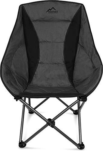 normani Deluxe Campingsessel Relaxsessel XXL Moonchair Schalensitz- Comfort Camping-Stuhl - Gepolsterter Outdoor Klappstuhl, Traglast: 150 Kg (330 lbs) Farbe Grau