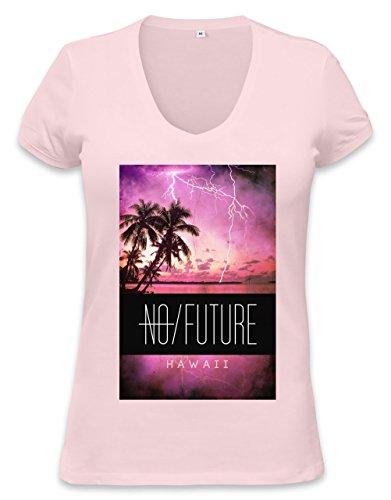 no hereafter palm storm hawaii Womens V-neck T-shirt Medium (Beanie Flag American)