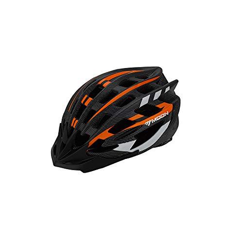 John-L Fahrradhelm Herren, größenverstellbarer Fahrradhelm, Abnehmbarer gefütterter Sporthelm, Leichter und atmungsaktiver Mountainbike-Helm,Orange