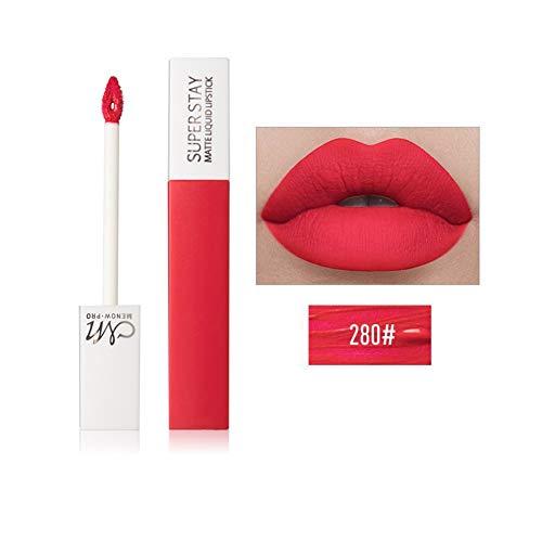 Allbesta Matte Lippenstift Flüssigkeit Make-up 12 Farben Lipgloss Rot Nude Lip Tint Wasserfest...