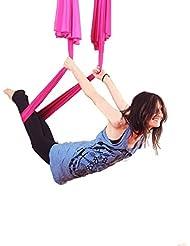 5 Meter Yoga DIY Équipement Aerial Silks Yoga Anti-gravité Hamac-Yoga Équipements de Danse Aérienne Yoga Balançoire Seuls les tissus sans accessoires